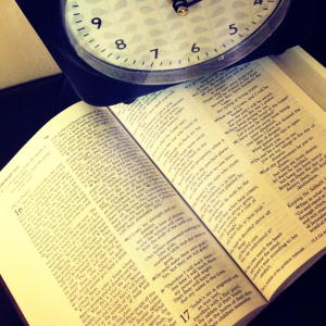 clock with Bible - God's timing 1
