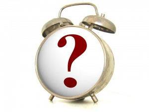 clock with question mark