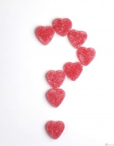 question mark with hearts