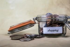 shopping coin jar