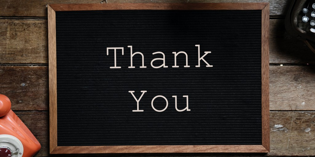 thank you letter board - web