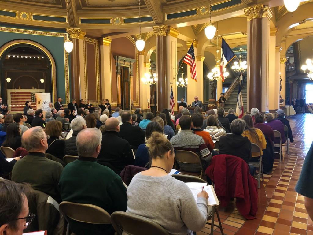 Representative Steven Holt speaks to attendees.