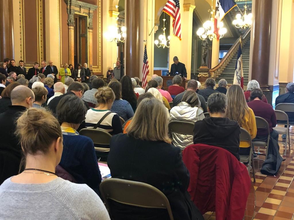 Senator Jake Chapman addresses attendees.
